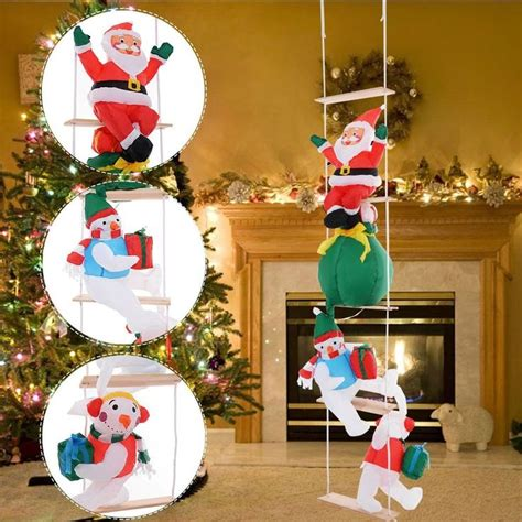 climbing santa ladder christmas decoration 25 unique decorations ideas on prom roof
