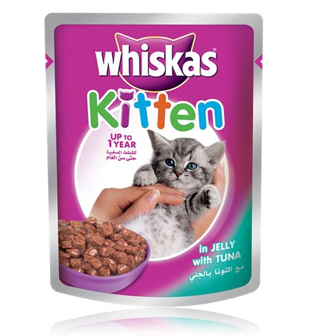 Cat Pouch Kitten Tuna Food our products whiskas 174 kitten pouch with tuna in jelly