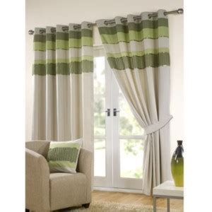 cream and green curtains tonal eyelet curtains red