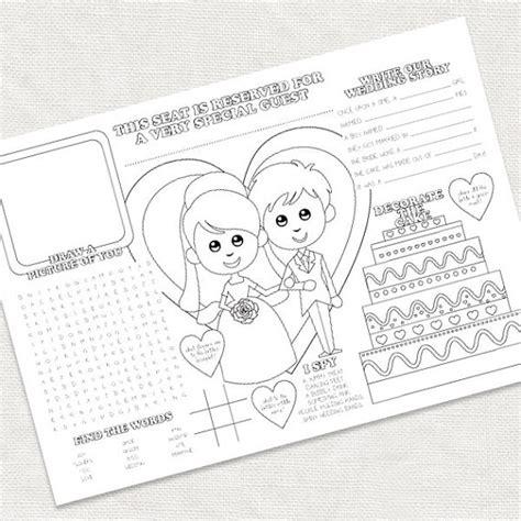 printable children s wedding activities printable kids wedding activity placemat childrens reception