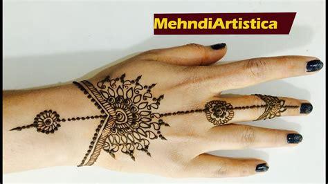apply mehndi  hands   mintseasy simple beginners henna mehendi designsmehndiartistica