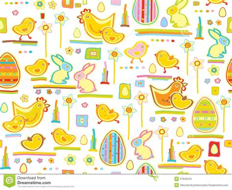 free eastern pattern background vector cute seamless pattern happy easter stock photo
