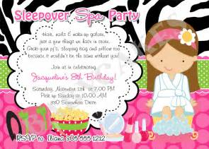 sleepover spa birthday invitation print your by jcbabycakes