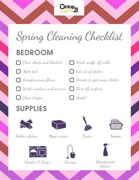 cleaning bedroom checklist pin by century21 core partners on home sweet home pinterest