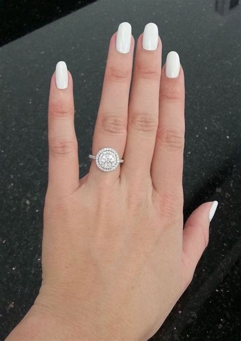double halo engagement ring ideas   deer pearl
