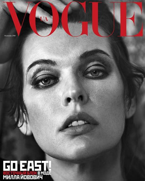 milla jovovich interview 2018 milla jovovich stuns from vogue ukraine october 2016 covers
