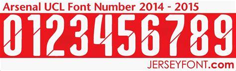 arsenal number arsenal 2014 2015 font number fontai pinterest fonts