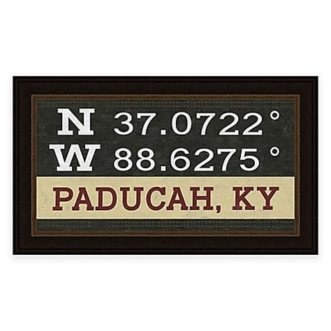 bed bath and beyond paducah ky paducah kentucky coordinates framed wall art bed bath