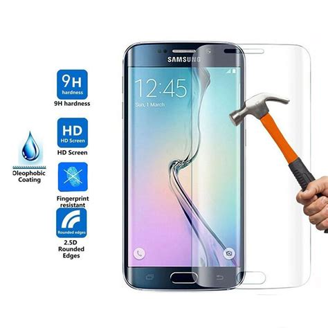 New Tempered Glass Samsung Galaxy S7 Edge wholesale galaxy s7 edge tempered glass screen protector glass clear