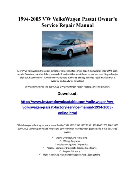 download car manuals 1997 volkswagen cabriolet user handbook vw volkswagen passat 1994 1995 1996 1997 1998 1999 2001 2002