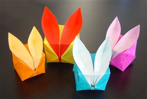 Easter Origami Bunny - top 10 crafts you should be with your for