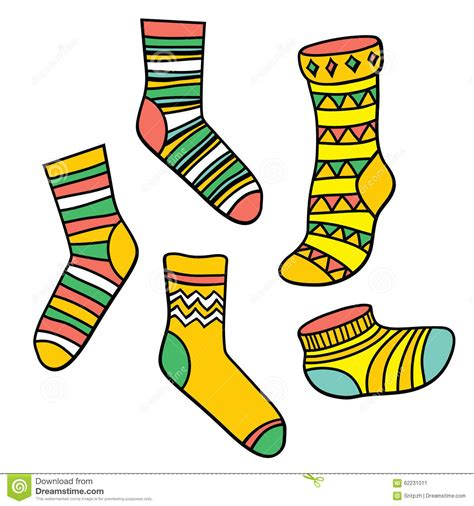 vector set with socks stock vector image 62231011