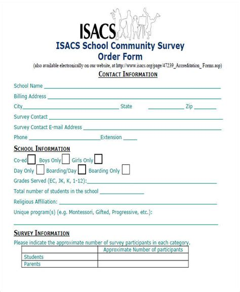 54 Printable Survey Forms Sle Templates Community Survey Template