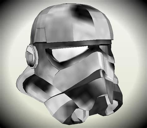 wars stormtrooper helmet paper model in 1 1 scale