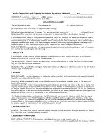 common separation agreement template best photos of separation agreement exle