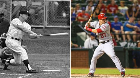 mike trouts swing could mike trout really be the next mickey mantle mantle