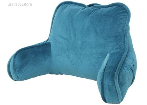 pillow bed rest with arms bed rest reading pillow arms plush polyester fabric back