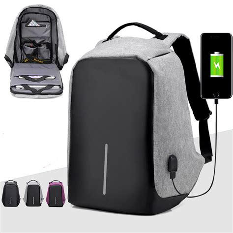Price Tas Ransel Usb Port Anti Maling Tas Laptop Tas Anti Air tas ransel laptop anti maling dengan usb charger port gray jakartanotebook
