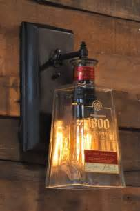 recycled bottle l wall sconce 1800 tequila bottle