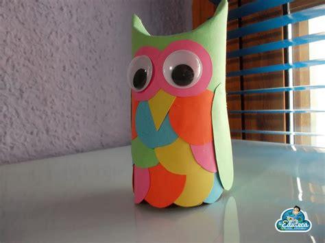 como hacer buhos de carton con papel higienico como hacer buhos de papel imagui