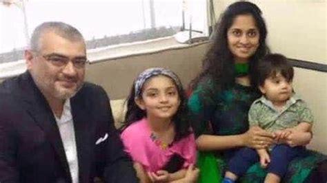 actor ajith and family ajith shalini daughter and son anoushka and aadwik new