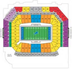 Ford Field Seat Map Ford Field Seating Chart