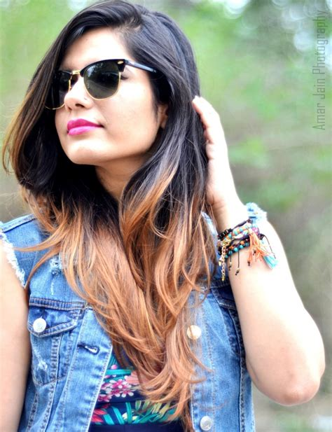 highlights for indian women ombre hair that delhi girl