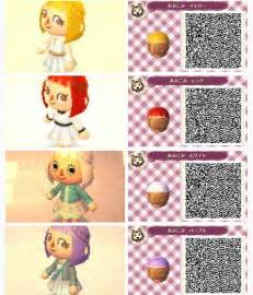 animal crossing new leaf hair colors hair braids animal crossing new leaf qr codes