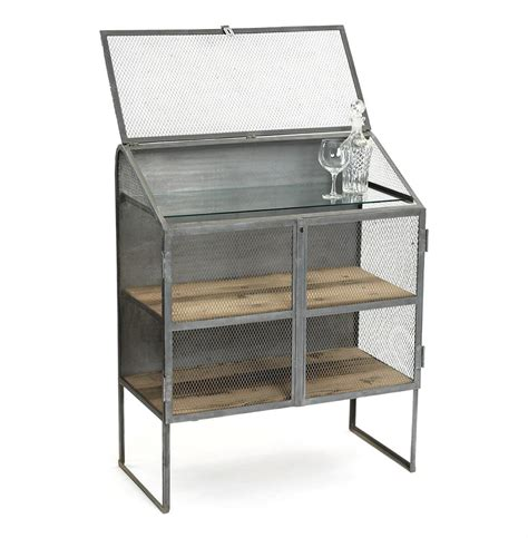 Industrial Bar Cabinet Bachelors Industrial Loft Bureau Bar Wine Cabinet Kathy Kuo Home