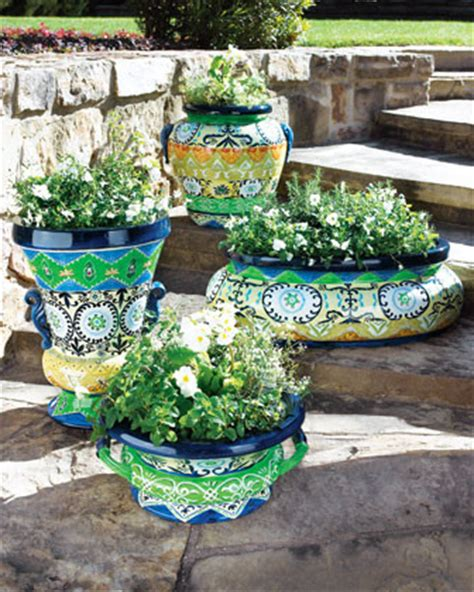 Moroccan Planters by Oval Moroccan Planter Traditional Indoor Pots And