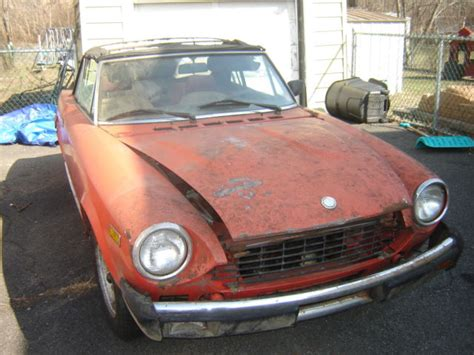 fiat parts 1979 fiat 124 spider for parts or restoration