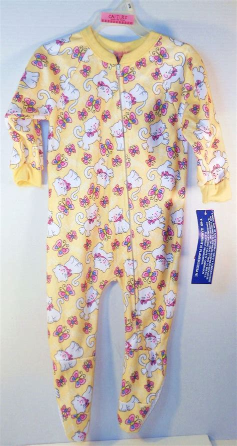 Zipper Sleepers by S 12 Month Zipper Sleeper Kittens Butterflies