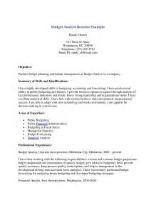 pdf budget analyst resume federal government