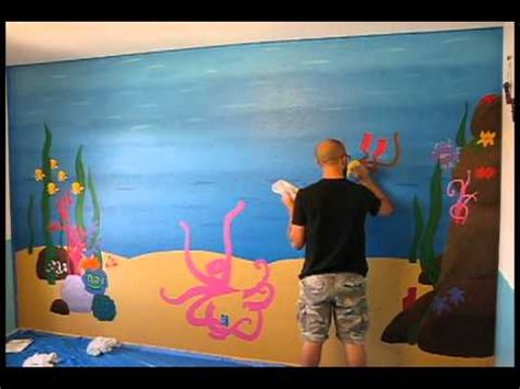 Beach Scene Wall Murals underwater mural easy street art company time lapse