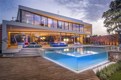 architecture company cool blue villa in spain upon the project of 123dv