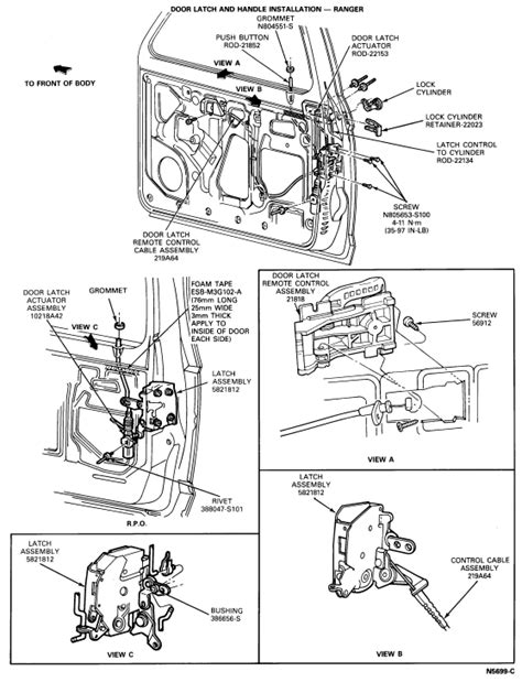 2000 Ford Explorer Door Latch Assembly by A Diagram Of A Back Door Latch For A 2000 Ford Explorer