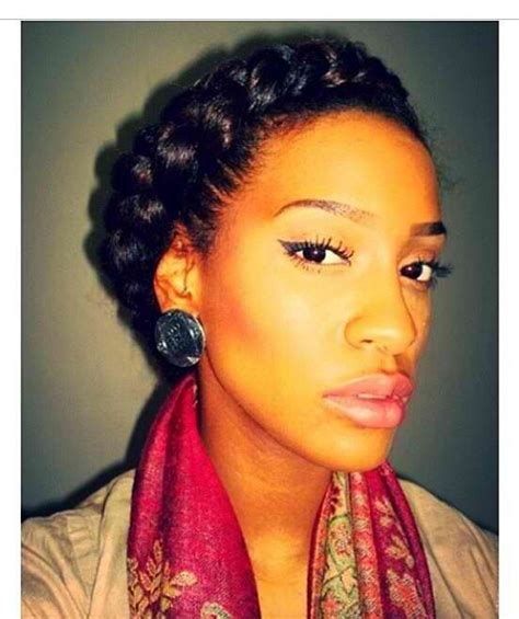 pretty godess braids beautiful goddess braid natural hair styles pinterest