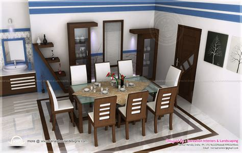interior decoration of dining august 2013 kerala home design and floor plans
