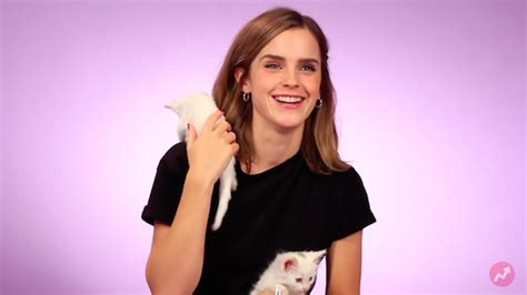 emma watson questions emma watson playing with kittens will make your day bud