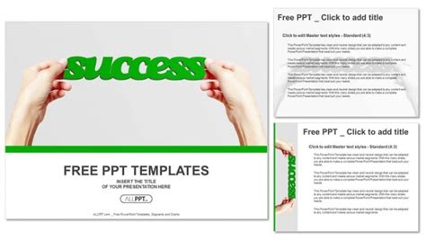 success powerpoint templates free and word success isolated powerpoint templates