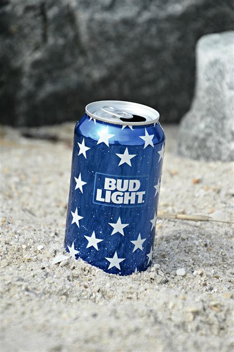 blue bud light mixed media by trish tritz