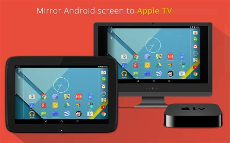 how to mirror android to apple tv mirroring360 sender basic android apps on play