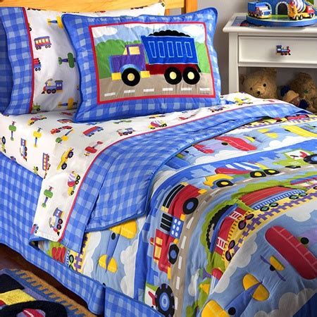 Truck Comforter by Trains Planes Trucks Bedding