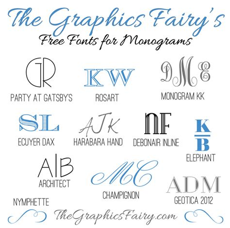 favorite free fonts for creating monograms the graphics