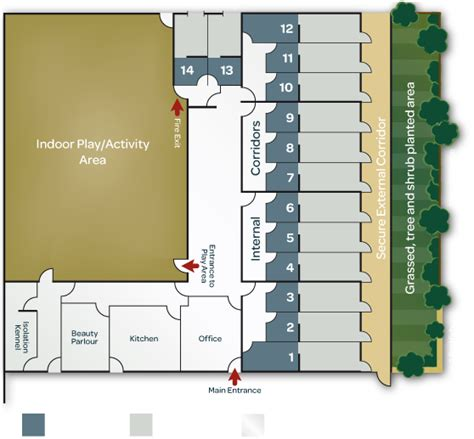 kennel floor plans dog boarding kennels on pinterest dog boarding dog