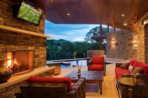 outdoor living room with fireplace living rooms with great views