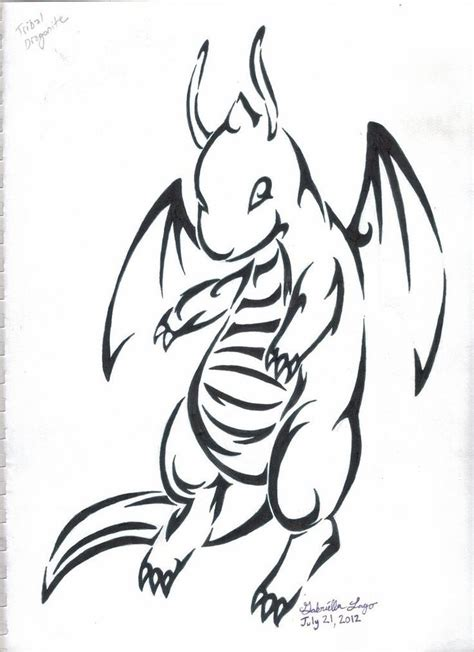 tribal tattoo pokemon dragonite tribal ideas