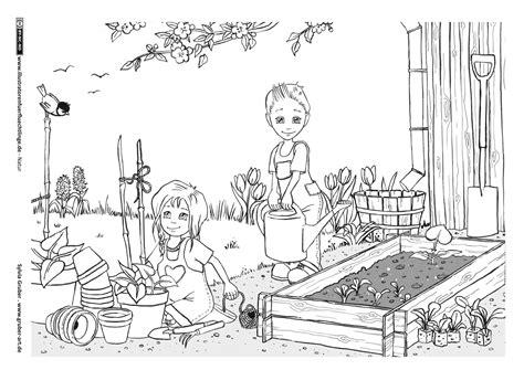 Ausmalbilder Garten