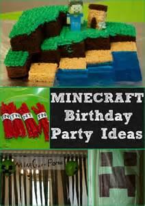 minecraft birthday decorations the best minecraft birthday ideas for on the