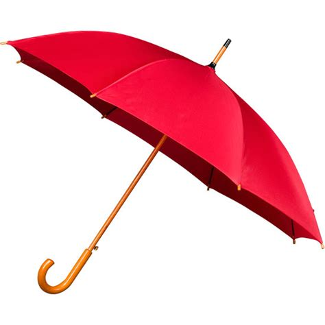 Red Wood Stick Wooden Umbrella   from Umbrella Heaven